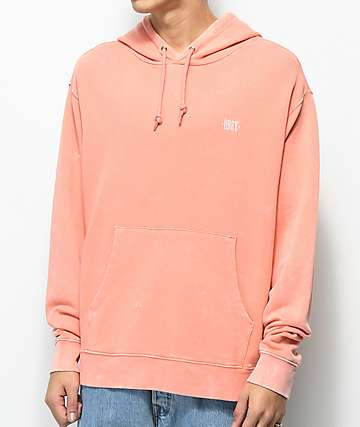 Obey Fade Pigment Wash Coral Hoodie