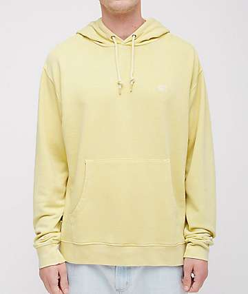 Obey Fade Pigment Wash Yellow Hoodie