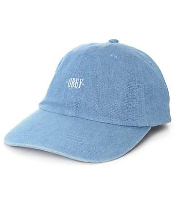 Obey Filton Light Denim 6 Panel Hat