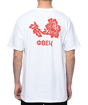 Obey Flower White & Red T-Shirt
