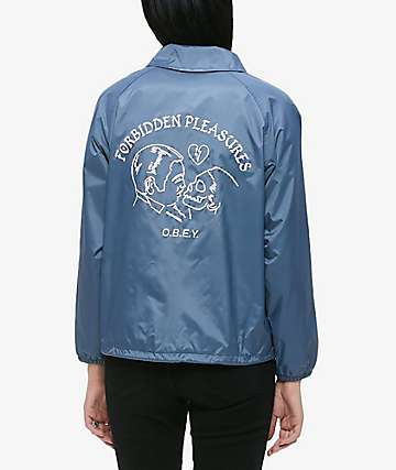 Obey Forbidden Pleasures Coaches Jacket