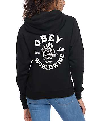 Obey Fresh Off The Press Black Pullover Hoodie