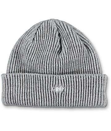 Obey Hangman Heather Grey Beanie