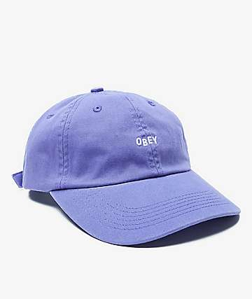 Obey Jumble Bar II Violet Six Panel Hat