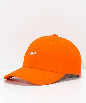 Obey Jumble Bar III Orange 6 Panel Hat