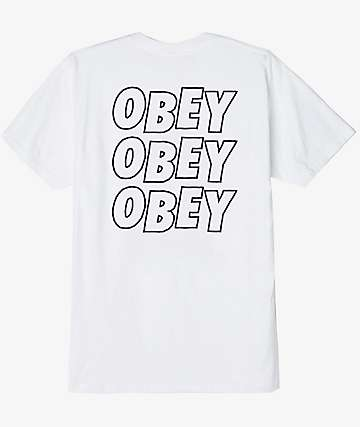 Obey Jumble Lo-Fi White T-Shirt