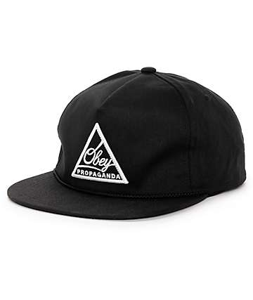 Obey New Federation Black Snapback Hat