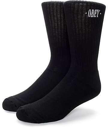 Obey New Times Black Crew Socks
