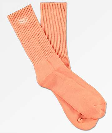 Obey New Times Embroidered Coral Crew Socks