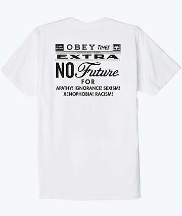 Obey No Future White T-Shirt