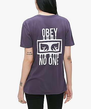 Obey No One Classic Night Shade T-Shirt