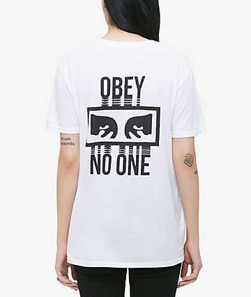 Obey No One Classic White T-Shirt