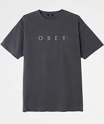Obey Novel Boxy Dusty Black T-Shirt