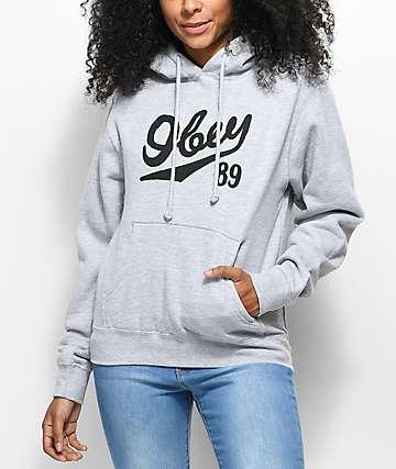 Obey Old 89 Grey Hoodie