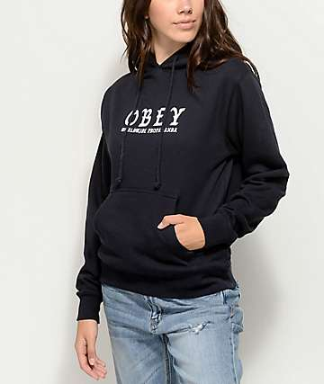 Obey Old World Obey Black Hoodie