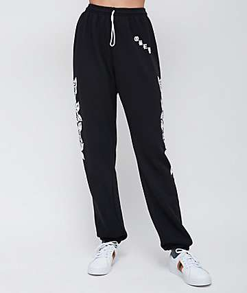 Obey Olde Rose Black Sweatpants