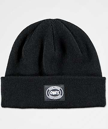 Obey Onset Black Beanie