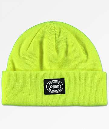Obey Onset Bright Green Beanie