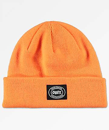 Obey Onset Bright Orange Beanie