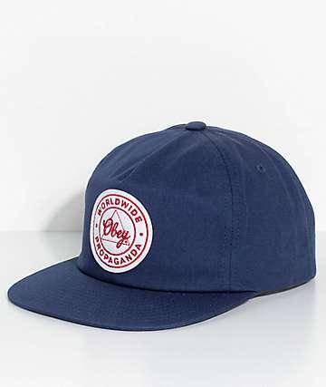 Obey Paramount Navy Snapback Hat