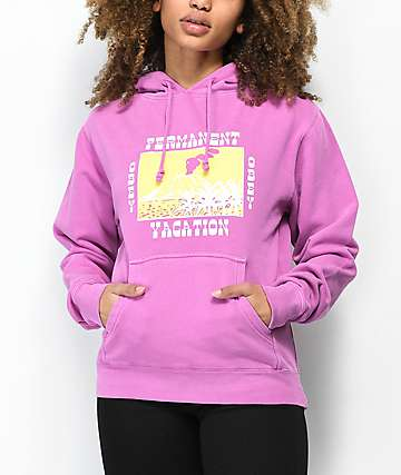 Obey Permanent Vacation Vintage Purple Hoodie