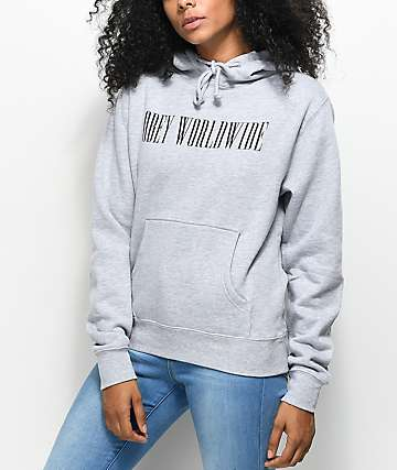 Obey Proof Type Grey Hoodie