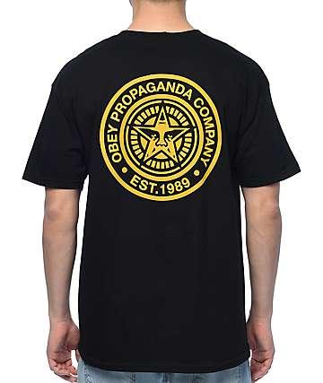 Obey Propaganda Black & Gold T-Shirt