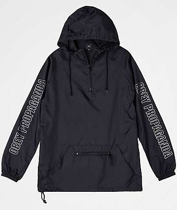 Obey Rough Draft Black Anorak Jacket