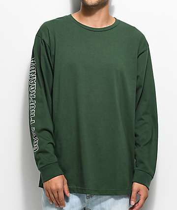 Obey Rough Draft Long Sleeve Green T-Shirt
