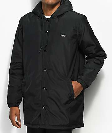 Obey Singford Stadium II Black Jacket