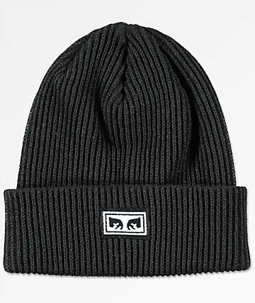 Obey Subversion Black Cuffed Beanie