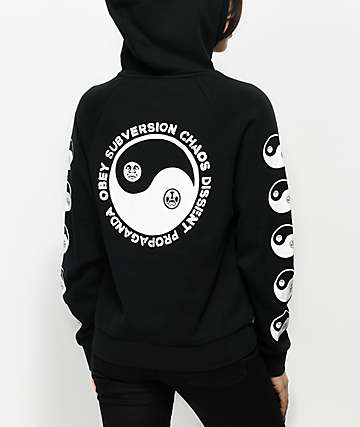 Obey Subversion Black Hoodie