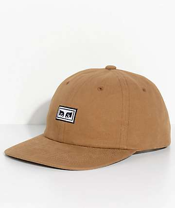 Obey Subversion Brown Six Panel Hat