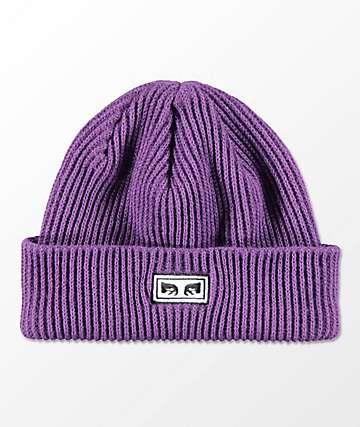 Obey Subversion Dark Purple Beanie