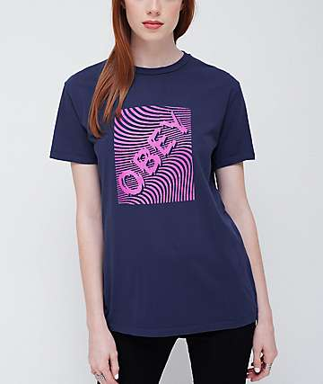Obey Swirl Classic Blue Violet T-Shirt