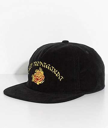 Obey Takeout Black Corduroy Snapback Hat