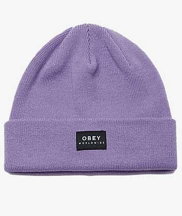Obey Vernon II Lavender Beanie
