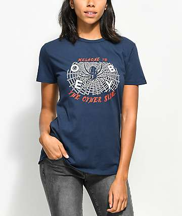 Obey Welcome To The Other Side Navy T-Shirt