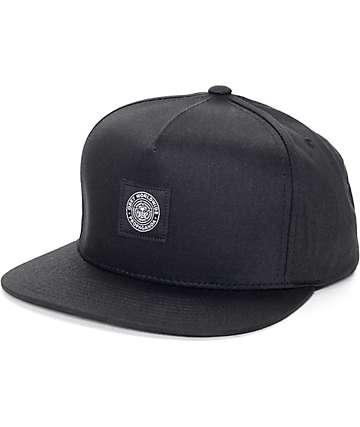 Obey Worldwide Seal Black Snapback Hat