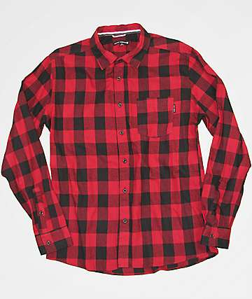 Ocean Current Buff Red Flannel Shirt