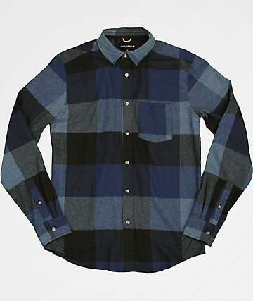 Ocean Current Draftsman Blue Flannel Shirt