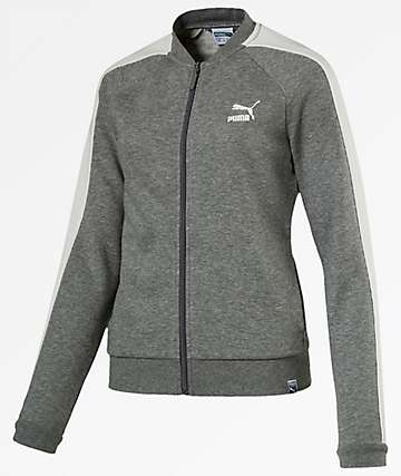 PUMA Archive Logo T7 Heather Grey Track Jacket