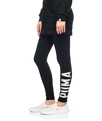 PUMA Athletic Foil Black Leggings