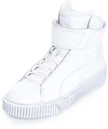 PUMA Platform Mid White Shoes (Womens)