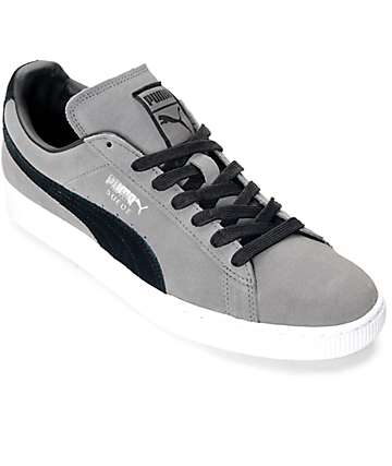 PUMA Suede Classic + Steel Grey & Black Shoes