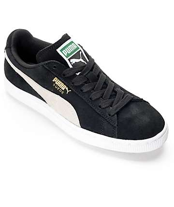 PUMA Suede Classic Black Shoes (Womens)