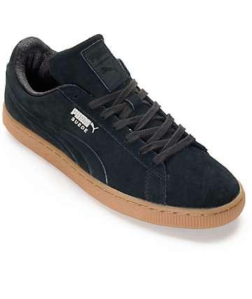 PUMA Suede Classic Debossed Black Shoes