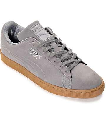 PUMA Suede Classic Debossed Steel Grey Shoes