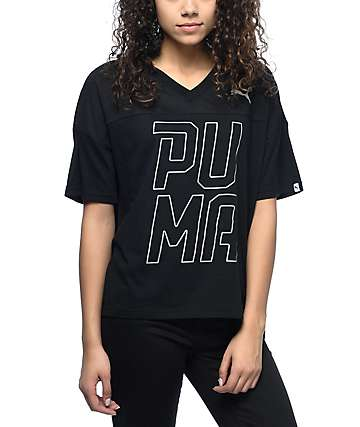 PUMA Swagger Black V-Neck T-Shirt