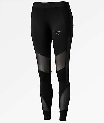 PUMA Velvet Rope Black Leggings